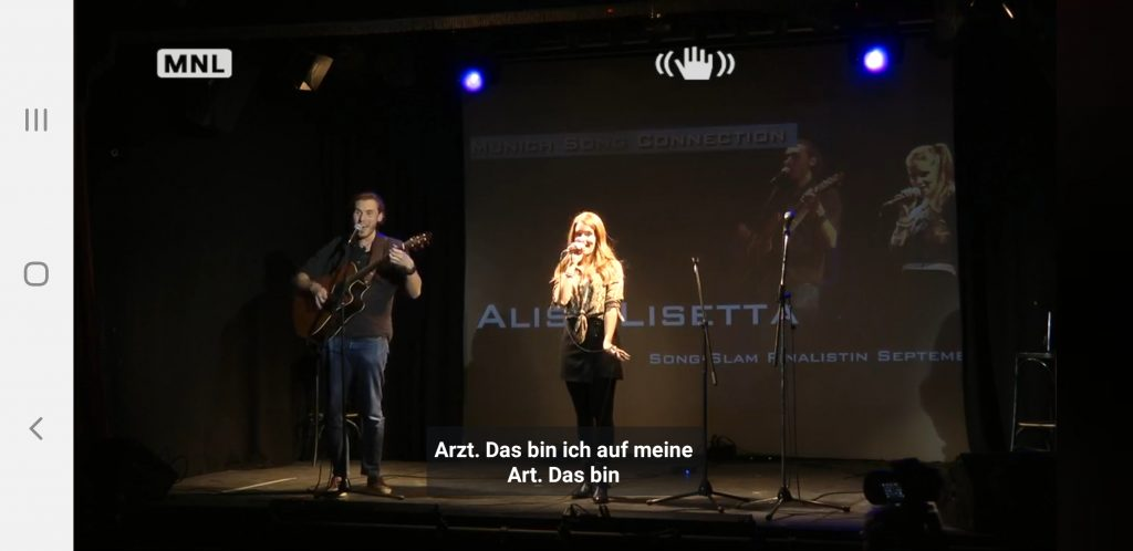 Alisa Lisetta auf dem Song Slam 66